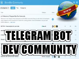 Telegram Bots Dev Community
