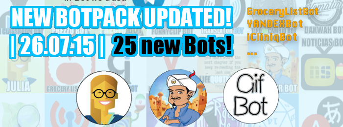 New Bot Pack Updated |26.07.15|