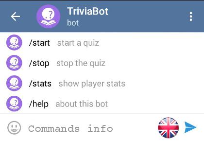 Trivia Bot | Bots for Telegram